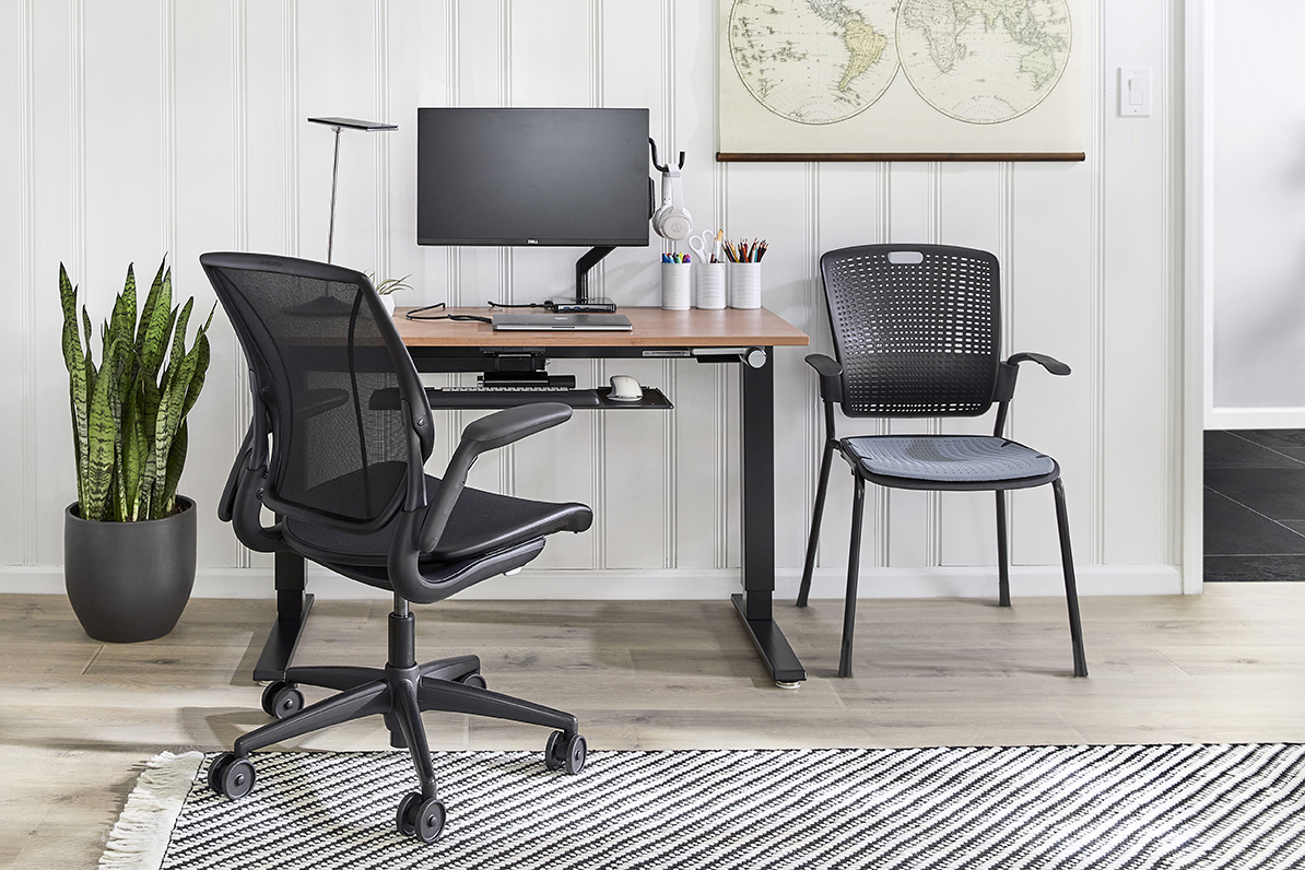 An ergonomic work-from-home workstation from Humanscale
